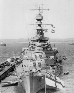 HMS Repulse - she and her sister Renown together with HMS Hood (which shipped an additional 15 in turret) were the only battlecruisers remaining in Royal Navy service by WW2.  Repulse was never significantly modernised, unlike Renown, and was famously sunk by Japanese aircraft on 10 December 1941 as part of the ill fated Force Z.
