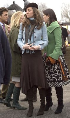 Kate Middleton Sports A Beret At The Cheltenham Festival, March 2007