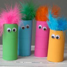 Cardboard Tube Featherheads - Fun Family Crafts