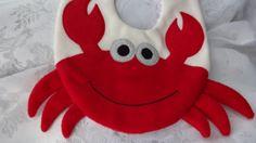 Crab Bib Infant Baby Bib Animal Fleece Bib Animal by DinkyDimples