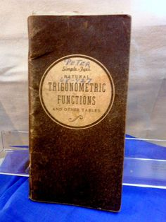 Vintage ENGINEER DERCK'S SIMPLE-FYER TRIGONOMETRIC FUNCTIONS BOOK #DerckSimpleFyer