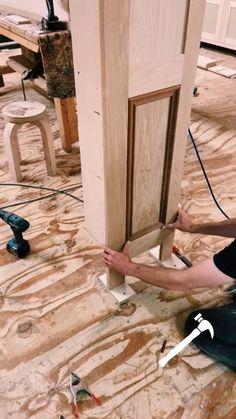 Easy Woodworking Projects, Woodworking Techniques, Diy Wood Projects, Home Projects, Wood Crafts, Hidden Spaces, Hidden Rooms, Secret Rooms, Diy Home Improvement