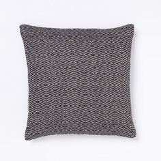 Diamond pillow cover blue