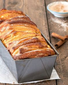 Start your morning with a piping hot cup of coffee and one or two slices of this easy cinnamon sugar pull-apart bread. It's so delicious - soft and fluffy on the inside, golden-brown and crunchy on the outside.