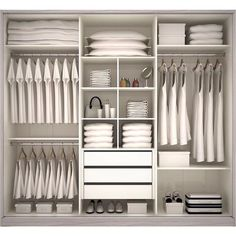 New Ideas For Bedroom Storage Closet Organisation Dressing Rooms Bedroom Closet Design, Master Bedroom Closet, Bedroom Wardrobe, Wardrobe Closet, Closet Designs, Walk In Closet, White Closet, Boys Closet, Closet Space