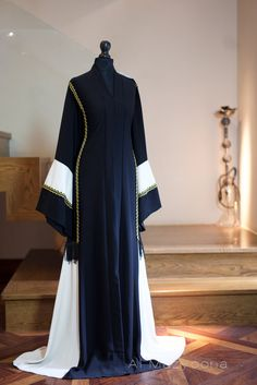 Ayoon Al Mazyoona is influential Islamic clothing brand offer modest Khaleeji abaya and Kaftan maxi Islamic Fashion, Muslim Fashion, Modest Fashion, Fashion Dresses, Caftan Dress, Hijab Dress, Wedding Abaya, Mode Abaya, Arabic Dress