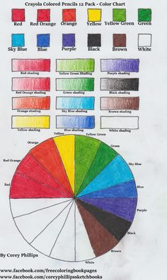 Crayola Colored Pencil Color Chart