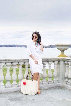 LovePlayingDressup-neha-gandhi-tuckernuck-white-linen-dress-summer-ootd-newport-tassel-brunch-basket-tote-j jill wedges