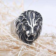 z&anel declaração X® dos homens de aço leão de titânio estilo europeu de 2434084 2016 por €9.79