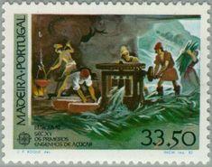 1982: C.E.P.T.- Historical events (מדירה) (Europa (C.E.P.T.) ) Mi:PT-MD 77,Sn:PT-MD 81,Yt:PT-MD 82