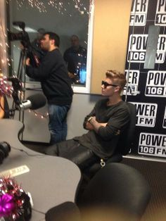 Justin Bieber At Power 106 Today