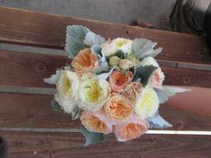 soft vintage garden rose bouquet