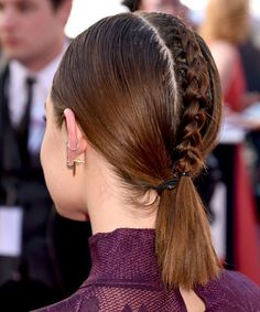 Lucy Hale Braided Hair Billboard Music Awards 2016 | Lucy Hale's hair might be the coolest thing we saw all night. #refinery29 http://www.refinery29.com/2016/05/111645/lucy-hale-hair-billboard-music-awards-2016