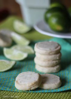 Key Lime Meltaway Shortbread