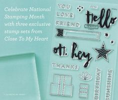 Hello, Life! Card stamp set celebrating National Stamping Month - only available Sept. 2015. #ctmh #birthdaycake