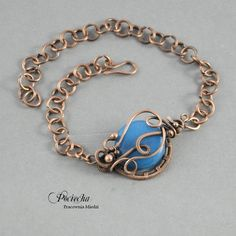 Cracken - bransoletka z jadeitem niebieskim - Bransoletki - Trendsetterka.com