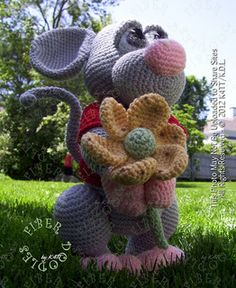 ~ Crocheted with materials listed, models which have been produced are approximately 18 inches tall. However, depending on your crochet style, this measurement may/will vary. ~