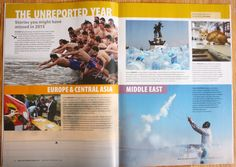 CENTRE OF BOOK. New Internationalist – The Unreported Year. The most unusual (though relevant) things happened in the last 12 months, which have been ignored by the media – in images.