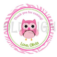 Owl sticker . 2 Inch Circles. Stickers, Cupcake Topper, Tags, great for birthday partys. Digital file