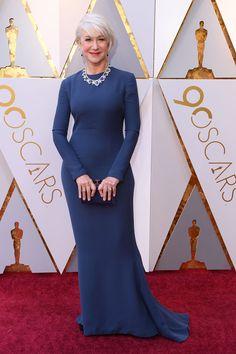 Helen Mirren in Reem Acra.