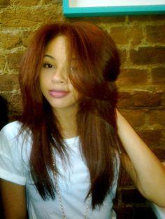 Treasured Tresses - love how full her hair looks & the color is lovely