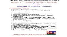 """SCUOLA COUNSELING Roma -Counseling Scolastico A.I.C.I schoolcounseling:  COUNSELING SCOLASTICO PAF""""PROGETTO DI APPOGGIOF..."""