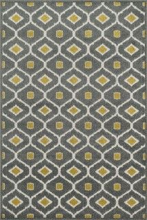 "Contemporary Oasis 3'11""x5'10"" Rectangle Gray-Citron Area Rug - contemporary - rugs - by RugPal"