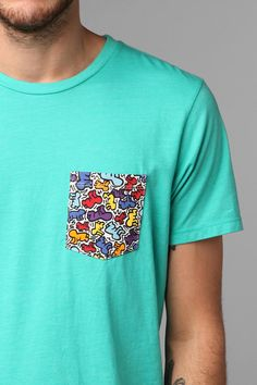 4af49bdea414d1 Junk Food Keith Haring Pocket Tee