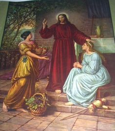 Wonderful+Vintage+Print-CHRIST+with+MARY+and+MARTHA-DIETRICH