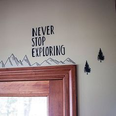 Paper Riot Co Sparkle in Her Suitcase Hallway Decorating, Decorating Tips, 2nd Grade Classroom, Classroom Ideas, Mountain Decor, Entry Hallway, Diy Home Decor Projects, Never Stop Exploring, Cabins In The Woods