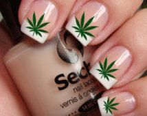25% OFF & Free Shipping - POT LEAVES  Marijuana Nail Art (Ptg) Waterslide Transfer Decals - Not Stickers or Vinyl