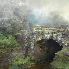 "bluepueblo: "" Ancient Stone Bridge, Yorkshire, England photo via darkface """