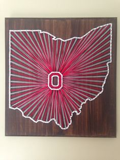 String art Ohio State University state sign by my2heARTstrings on Etsy https://www.etsy.com/listing/247127992/string-art-ohio-state-university-state