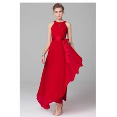 Gorgeous red long dress bow new with tags Gorgeous red long dress bow new with tags comes in size 6 8 10 or 14 Dresses Maxi
