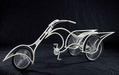 Christy Lynn Trike by Josh Hadar: With handtooled ostrich seat and grips. #Trike #Josh_Hadar