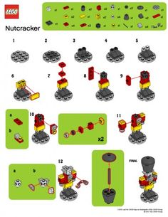 LegoMyMamma: LEGO Nutcracker building instructions - New Ideas Lego Christmas Ornaments, Lego Christmas Village, Lego Winter Village, Christmas Gifts, Lego Disney, Lego Advent Calendar, Lego Minecraft, Lego Lego, Lego Batman