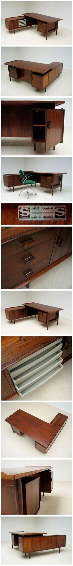 Arne Vodder rosewood office desk Sibast Furniture 1955