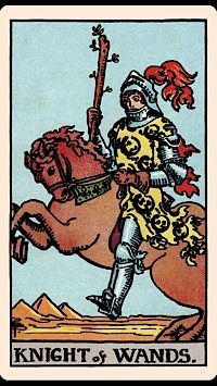 The Card of the Day: The Knight of Wands