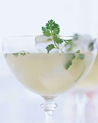 Pear-Cilantro Margarita 1 ounce reposado tequila 1 ounce pear nectar or juice ounce Simple Syrup ounce fresh lime juice 1 teaspoons fresh lemon juice teaspoon chopped cilantro, plus 1 small cilantro sprig for garnish Cocktails Bar, Cocktail Drinks, Fun Drinks, Yummy Drinks, Cocktail Recipes, Alcoholic Drinks, Beverages, Cocktail Ideas, Sangria Recipes