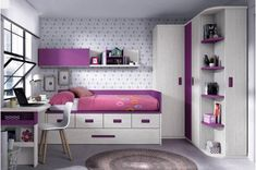 Unique, Original, and Customizable Juvenile Bedroom Sets from Spain, exclusively available at Eurostyle furniture Montreal.