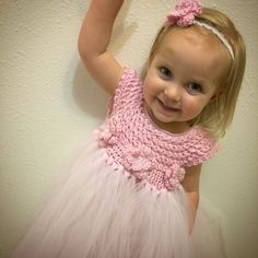 2T-4T Crochet top tutu dress with headband - made to order on Etsy