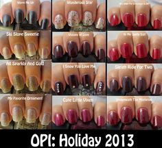 click through for review of OPI Holiday 2013