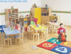 Kids Table And Chairs, Kid Table, Photo Collage Design, Daycare Design, School Decorations, Preschool Classroom, Nursery Design, Baby Furniture, Home Living Room