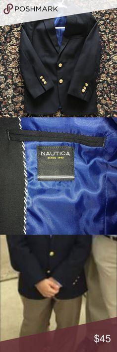 Nautical navy blue blazer Nautica navy blue blazer size 8. Worn once for Holy Communion. Nautica Jackets & Coats Blazers