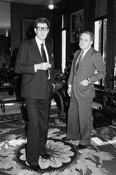 Yves Saint Laurent y Pierre Berge