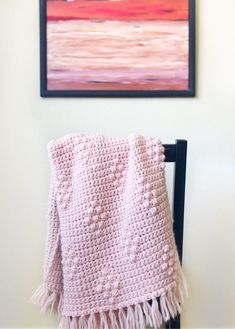 Crochet Diamond Berry Stitch Blanket - Daisy Farm Crafts Free Crochet Pattern