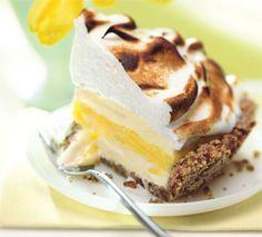 Lemon Meringue Ice Cream Pie in Toasted Pecan Crust | Epicurious.com