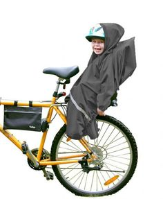Super raincover for cycling with a child, also designed to protect against wind and dust, unique solutions, original Scandinavian design, manufactured in Sweden, with soft polyurethane-coated polyester fabric, which gives him a high rate of optimal water resistance #mybaze #bike #kids