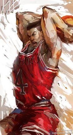 """Gori"" Akagi at Shohoku High School Manga Drawing, Manga Art, Manga Anime, Slam Dunk Manga, Inoue Takehiko, Basketball Art, Basketball Players, Nba Wallpapers, Spiderman Art"