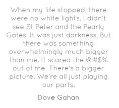 When my life stopped, there were no white lights. I...